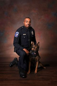 Officer Bregoree Anderson and partner, Jaeger